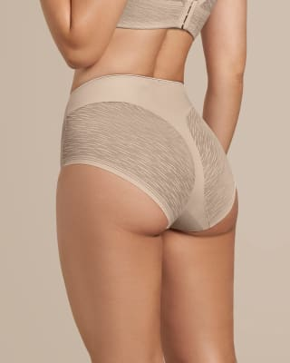 panty faja clasico invisible con transparencias en gluteos y laterales-802- Cafe Claro-MainImage