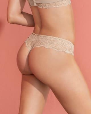 panty estilo tanga brasilera con laterales y encaje-802- Cafe Claro-MainImage