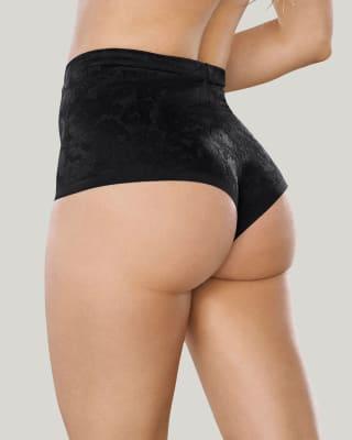 panty cachetero de tiro alto y control suave de abdomen con tecnologia de compresion--MainImage