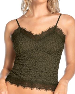 blusa en encaje con silueta semiajustada-695- Dark Green-MainImage