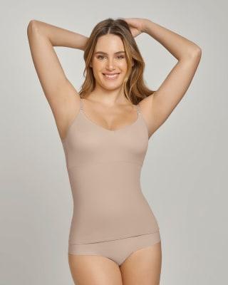 camiseta de control de abdomen y espalda - una figura moldeada al instante-802- Nude-MainImage