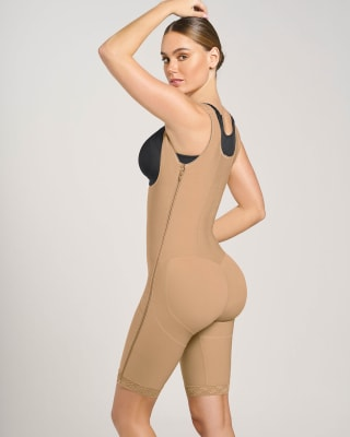 torso-to-thigh firm body shaper  side zippers--MainImage