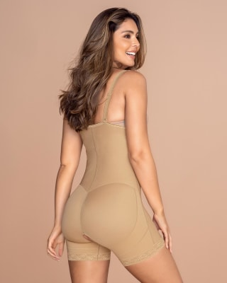 strapless short firm body shaper with butt lifter--MainImage