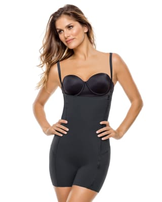 body shaper boyshort with removable pads-795- Black-MainImage