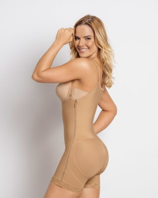 double take open bust firm compression post-surgical body shaper--MainImage