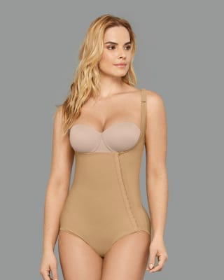 post-surgical firm body shaper - diagonal hook-and-eye--MainImage