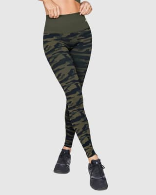 smoothing high-waisted graphic active legging-695- Verde Oscuro-MainImage