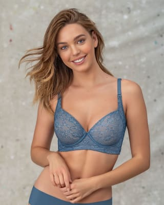 lace back smoothing bra with soft full coverage cups-579- Light Blue-MainImage