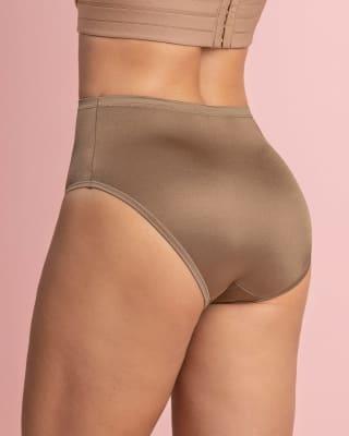 calzon clasico pierna alta con excelente cubrimiento tela suave-831 -Brown-MainImage