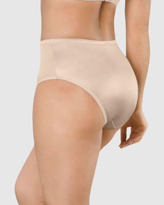 calzon clasico pierna alta con excelente cubrimiento tela suave-878- Beige-MainImage