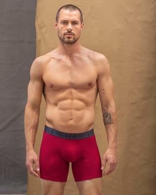 boxer medio en algodon comodidad total-336- Rojo-MainImage