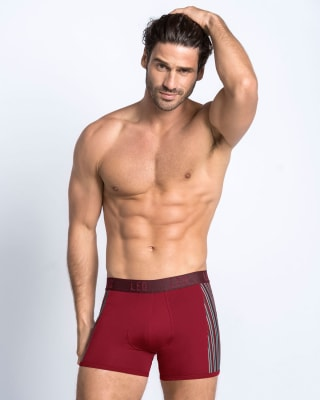 leo flex-fit boxer brief-174- Wine-MainImage