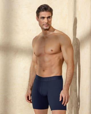 boxer largo ajustado en algodon maximo confort-567- Azul-MainImage