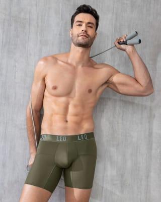 leo advanced mesh boxer brief-684- Olive Green-MainImage