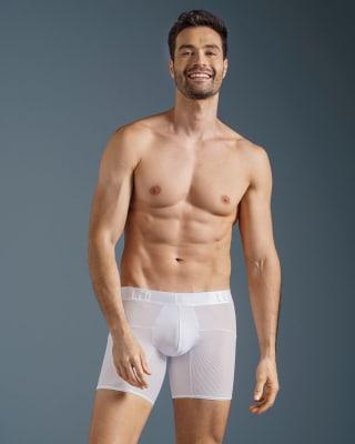 boxer medio de tela texturizada y secado rapido-000- White-MainImage