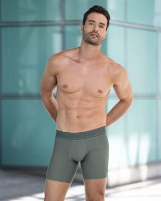 boxer medio de tela texturizada y secado rapido-248- Gris Medio-MainImage
