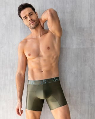 leo superior fit microfiber long boxer brief-684- Verde Oliva-MainImage