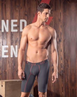 boxer largo deportivo con pocas costuras-771- Gray-MainImage