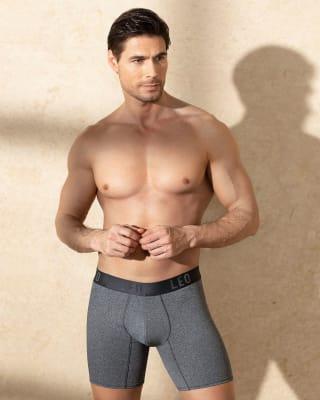 leo flex-fit boxer shorts aus baumwolle-737- Gray-MainImage