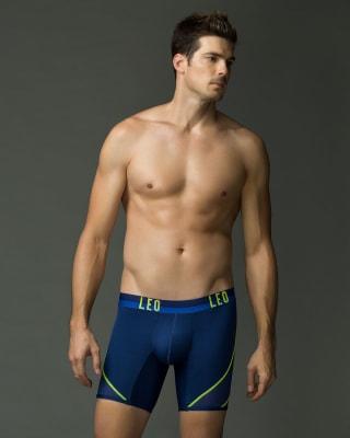 leo sport boxer shorts mit netzstoff-510- Dark Blue/Neon Green-MainImage