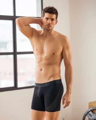 boxer medio ideal para uso diario con mallas laterales transpirables-700- Black-MainImage