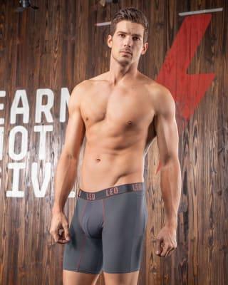 boxer medio deportivo con bolsillo lateral-771- Gray-MainImage
