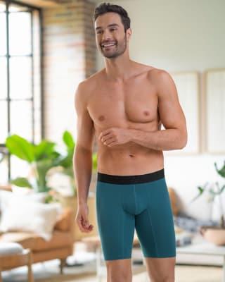 boxer largo con elastico en contraste de color-563- Azul Petroleo-MainImage