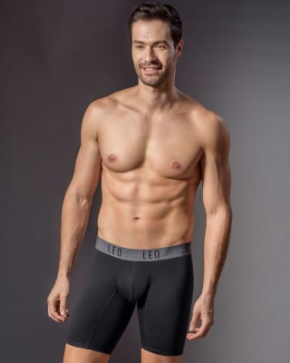 boxer largo con elastico en contraste de color-700- Black-MainImage