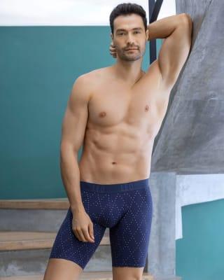 boxer largo de algodon que evita el roce entre las piernas-838- Azul Estampado-MainImage