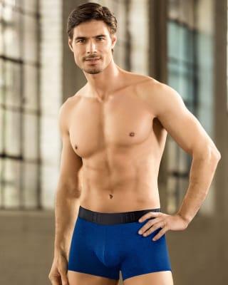 enganliegende boxer shorts im sportlichen design-570- Blue-MainImage