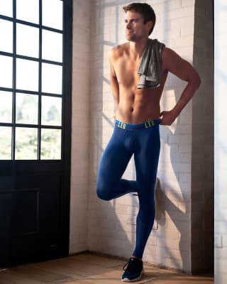 licra deportiva para hombre con mallas transpirables-510- Dark Blue/Neon Green-MainImage