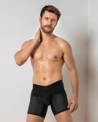 active mesh ergonomic boxer brief-700- Black-MainImage