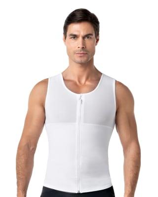 chaleco masculino con compresion de abdomen pecho y espalda maxforce-000- White-MainImage