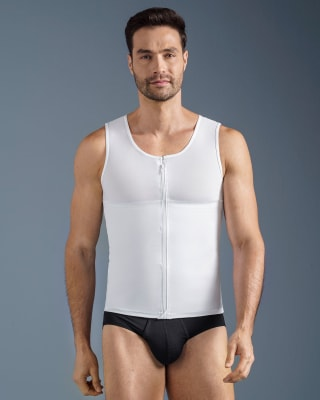 mens firm compression shaper vest with back support - maxforce-000- White-MainImage