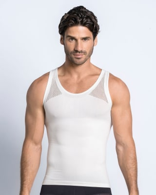 leo crew neck seamless compression tank-000- White-MainImage