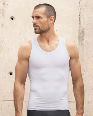 stretch cotton moderate compression tank-000- White-MainImage