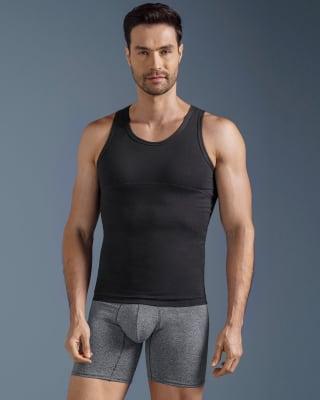 camiseta de compresion moderada en abdomen y zona lumbar-700- Black-MainImage