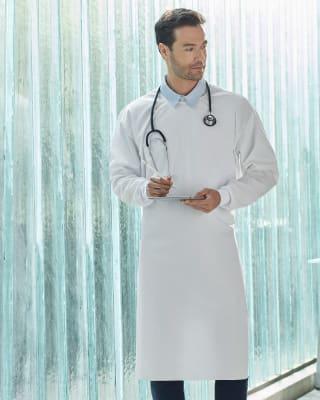 bata medica talla unica con efecto antifluidos-000- Blanco-MainImage