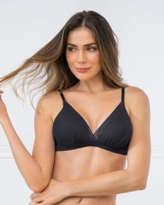 brasier ultra liviano sin arco con copas en espuma y tul sexy fresh bra-700- Negro-MainImage