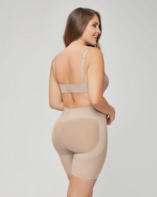 panty faja tipo short levanta cola y control de abdomen fuerte-802- Cafe Claro-MainImage