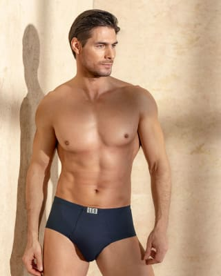 mens open fly cotton classic brief-547- Blue-MainImage