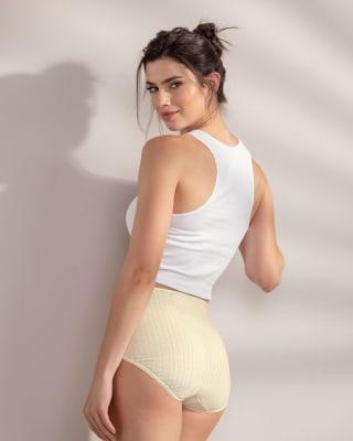 paquete x 3 calzones clasicos con excelente cubrimiento-S06- Beige / White / Nude-MainImage