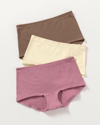3 boxers en algodon elastico con buen cubrimiento-S23- Rosa / Café / Marfil-ImagenPrincipal