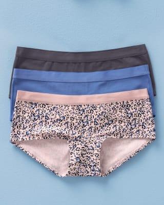 paquete x 3 boxers semidescaderados en algodon-S30- Azul Medio / Gris / Rosado Estampado-MainImage