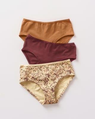 3 culottes en algodon - maxima comodidad y frescura-S21- Estampado Flores - Vino Oscuro - Mostaza-ImagenPrincipal