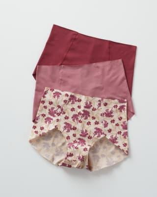 3 full coverage comfy classic panties-S15- Terracota/Flores/Vino-MainImage