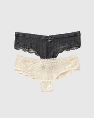 paquete x 2 panties cacheteros en encaje y tul-S01- Assorted-MainImage