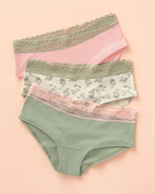 paquete x3 panties estilo hipster en algodon elastico-S02- Arena / Rosado / Estampado-ImagenPrincipal