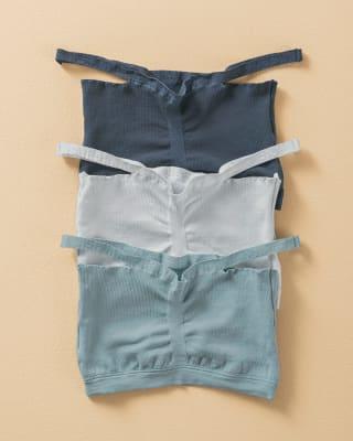 paquete x 3 comodos tops sin arco-S31- Gris Claro / Azul Oscuro / Azul Medio-MainImage