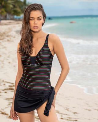 vestido de bano entero con falda-701- Black-MainImage
